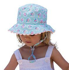 Baby Girls 100/% Cotton Sun Hat Beach Bush Summer Kids Head Bonnet Protection