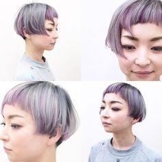 Short Hair Undercut, Undercut Hairstyles, Cute Hairstyles, Short Hsir, Bob Hair Color, Short Hairstyles For Women, Hair Dos, Balayage Hair, Short Hair Styles