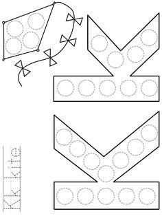 Preschool Letter Crafts, Alphabet Letter Crafts, Preschool Writing, Alphabet Activities, Preschool Worksheets, Preschool Activities, English Classroom Decor, Classroom Crafts, Dot Letters