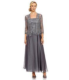 33df37e63253 Ignite Evenings Metallic Crochet and Chiffon Jacket Dress. Lori Hoppes ·  Mother of the Bride