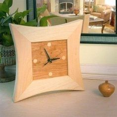 Celestial Wall Clock, Handcrafted Cherry and Maple Wood, 12""
