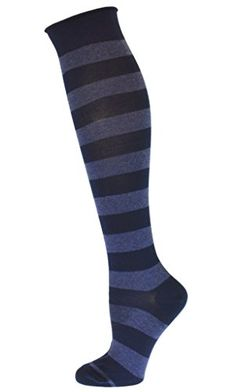 Timberland Unisex Pack of 3 Navy Crew Socks Striped Ribbed Warm Winter Hosiery