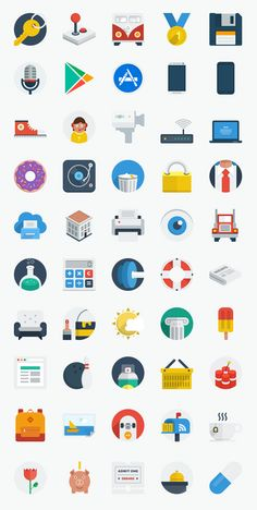 50 New Flat UI Icons #flaticons #freeicons #freepsdicons #flatdesign