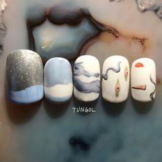 WORKS | TUNGOL / タンゴル | ネイルアトリエ Nail Tips, My Nails, Fashion Beauty, Manicure, Nail Designs, Make Up, Cosmetics, Exercise, Winter