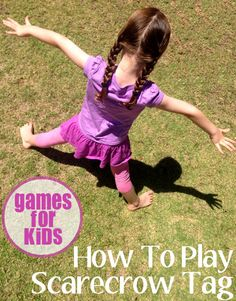 Games for Kids: How to Play Scarecrow Tag Scarecrow Tag Number of players: 6 (the more the merrier! Gross Motor Activities, Movement Activities, Autumn Activities, Activity Games, Physical Activities, Physical Education, Preschool Activities, Summer Activities, Gym Games