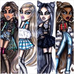 Yasmin, Cloe, Jade & Sasha will always hold a special place in my heart ❤️ #Bratz #BratzSince2001 #Passion4Fashion #SnatchedFaces #ItsGoodToBeABratz #SquadGoals