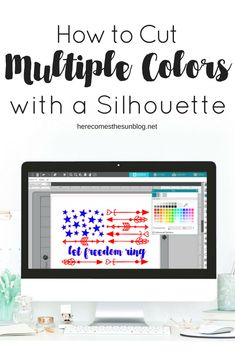 Learn how to cut multiple colors of vinyl with a Silhouette machine! Great tutorial for all your projects that contain more than one color! Silhouette Cameo Tutorials, Silouette Cameo Projects, Silhouette Cameo Vinyl, Silhouette Cutter, Silhouette School, Silhouette Machine, Silhouette Projects, Silhouette Files, Silhouette America