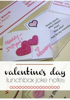 valentine's day lunchbox joke notes | free printables | super-cute, totally fun | @Amy Lyons mascott @amy mascott @teachmama