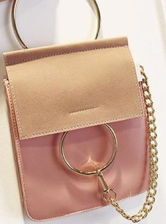Mini size, suede flap, with clasp/chain design. – Today Finds