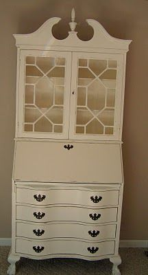 Refinished Secretary Desk via Chic Cottage Junk