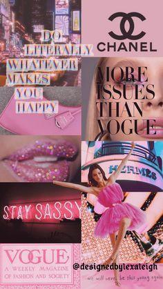 Vogue Wallpaper, Mood Wallpaper, Iphone Wallpaper Tumblr Aesthetic, Aesthetic Pastel Wallpaper, Aesthetic Wallpapers, Pink Wallpaper Girly, Bad Girl Wallpaper, Pink Wallpaper Iphone, Iphone Background Wallpaper