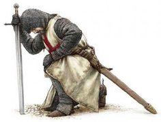 kneeling Knight | My Salute to the Knights Templar