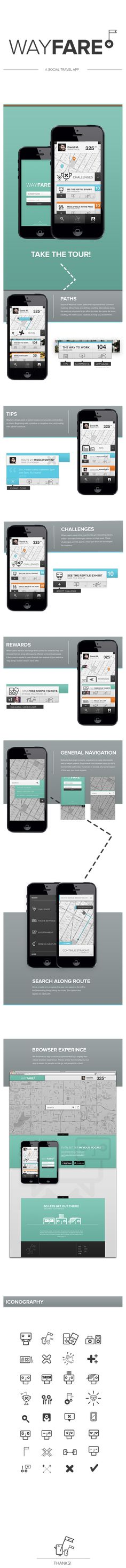 Wayfare by Matthew Mitchell, via Behance