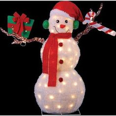 "43"" Animated Lighted Snowman w/ Moving Arms"