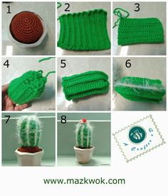 How to crochet a cactus: