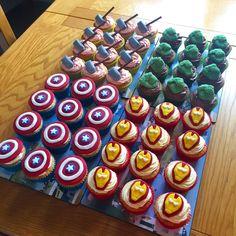 Avengers Birthday Cakes, Hulk Birthday, Superhero Birthday Party, Birthday Party Games, 5th Birthday, Superhero Party Favors, Birthday Ideas, Marvel Cupcakes, Avenger Cupcakes