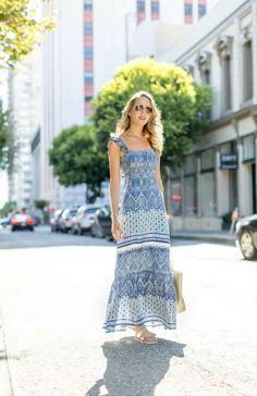 Casual Pattern Maxi Dress: MemorandumMEMORANDUM, formerly The Classy Cubicle