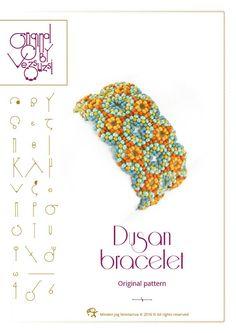 Beading tutorial / pattern Dusan bracelet. Beading instruction in PDF – for…