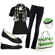 love the green and that bag...oh that bag and the ring..... scarf only $6 at H and M