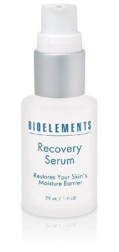 Bioelements Recovery Serum, 1-Ounce by Bioelements. $48.00. Enhances hydration. Leaves a smooth-as-glass finish and tone. Helps repair and smooth damaged, over-exfoliated or aging skin. A silky, emollient serum supercharged with skin-repairing ceramides, lipids and aromatherapist oils in an unbelivably sleek-feeling base. This must-have serum strengthens damaged, over-exfoliated or aging skin and seals in moisture without clogging pores. Makeup goes on smoother, la...