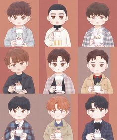 Funny Art Drawings People Ideas For 2019 Exo Cartoon, Cartoon Fan, Cartoon Drawings, Art Drawings, Kai Exo, Exo Kokobop, Baekhyun, Chibi, Exo Stickers