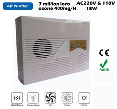 multi-function Ionizer Air Purifier,Ozone output 400mg/H,anion generator density 7 million pcs, support remote remote control
