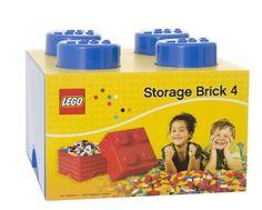 Plast Team PT40031 - Caja en forma de bloque de lego 4, color azul: Amazon.es: Juguetes y juegos
