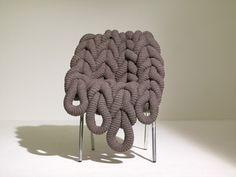 Rowan British Sheep Breeds yarn: British Wool Chair by Claire-anne O'Brien (via Design Milk) Chair Design, Furniture Design, Unique Furniture, E Claire, Modern Interior, Interior Design, Design Interiors, Contemporary Chairs, Modern Chairs