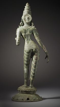 The Hindu Goddess Shridevi Hindu Statues, Indian Arts And Crafts, Sculpture Art, Bronze Sculpture, Indian Architecture, India Art, Hindu Deities, Historical Art, Indian Gods