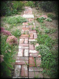 Brick Path Garden Designs Ziegel-Gehweg Ziegel-Kompost Ziegel-Garten-Marker Zieg...