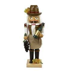 Traditional Wooden Wine Grower Nutcracker Christmas Festive Decor