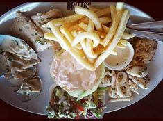 """27 Likes, 1 Comments - AppetizingCity by Urvi Barman (@appetizingcity) on Instagram: """"What the sea offers is in this platter at @brittos_goa ❤ There's crab, fish, calamari, prawns,…"""""""
