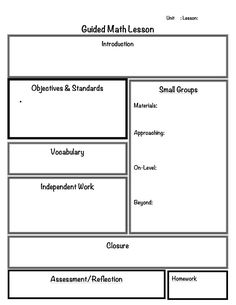 2 Organized Apples: Classroom Solutions For Grades Guided Mathu2026Guided Math  Lesson Plan Template