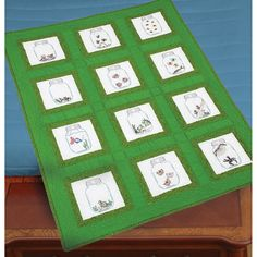 """Themed Stamped White Quilt Blocks 9""""X9"""" 12/Pkg-Creatures In Jars - Overstock Shopping - Big Discounts on Jack Dempsey Quilting Kits"""
