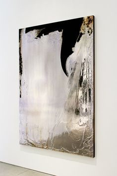 Jimi Gleason, Interzone, Silver Deposit and Acrylic on Canvas, 80 x 56 inches