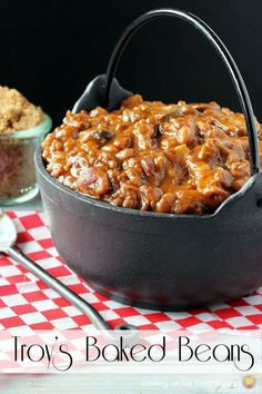 Troy's Baked Beans | Cooking on the Front Burner #slowcooker #sidedish