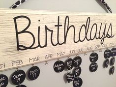 Suite Pieces January Pinterest Live event - custom birthday boards using Chalk Paint® decorative paint by Annie Sloan!