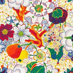 Nippon is a print that has Japanese overtones and a fantastic floral pattern. Nippon was created by Josef Frank during 1943 - - Fabric Sample Nippon, Linen Nippon, Josef Frank Josef Frank, Color Patterns, Print Patterns, Graphic Patterns, Textile Patterns, Graphic Design, Fabric London, Textile Museum, Textiles