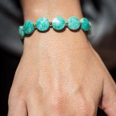 Chunky amazonite bracelet by PanachebyAmanda on Etsy, $30.20