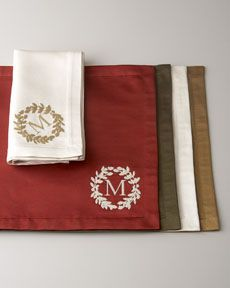 Need these monogrammed napkins for Thanksgiving