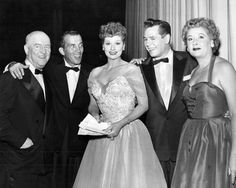 The cast of I Love Lucy with Ed Sullivan