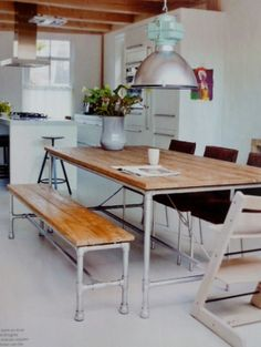 Great tables!! A bit like yours @vonessendesign! Seen in 101 Woonideen 08 2011