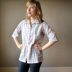 Perfect button up, nice neutral and the sleeve length is perfect: can roll up or not.