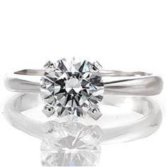 Beautiful, elegant diamond solitaire engagement ring. This can be an excellent way to propose, then bring in your significant other to pic out their own ring. Classic Solitaire by Knox Jewelers