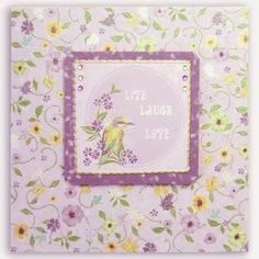 Card Making Project - Garden Flowers Card