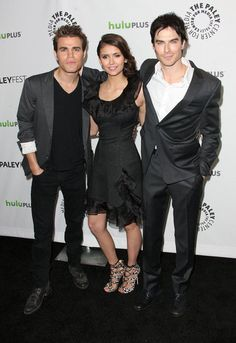 Vampire Diaries - Paul, Nina and Ian - PaleyFest
