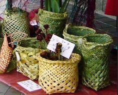 Rustic Flax Hand Woven Basket. $40.00, via Etsy.