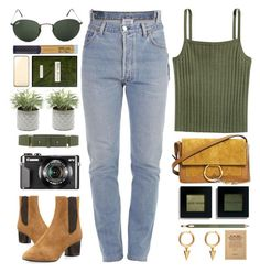 Deserted by monmondefou on Polyvore featuring Vetements, Isabel Marant, Chloé, Ray-Ban, Elie Saab, Belkin, Bobbi Brown Cosmetics, Winky Lux, Clarins and Miller Harris