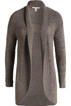 Esprit - Bändchengarn-Cardigan im Online Shop kaufen