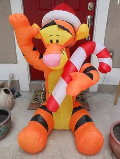 gemmy airblown inflatable tigger giant 4 foot disney christmas decoration
